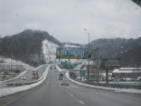 snowy west virginia road