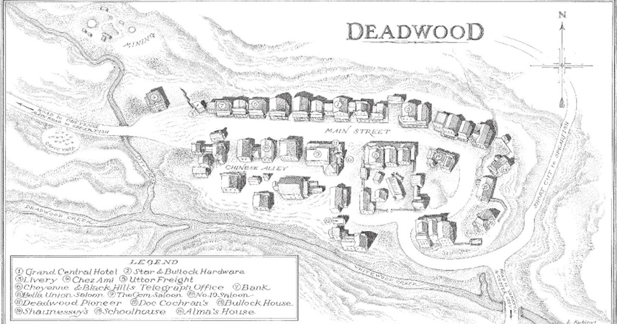 Deadwood and the Eames Residence: Deadwood map