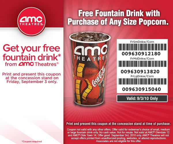 picture relating to Amc Printable Coupons identified as Amc popcorn promotions / Qfc wine offers