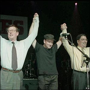 Bono celebrating with Irish politicians