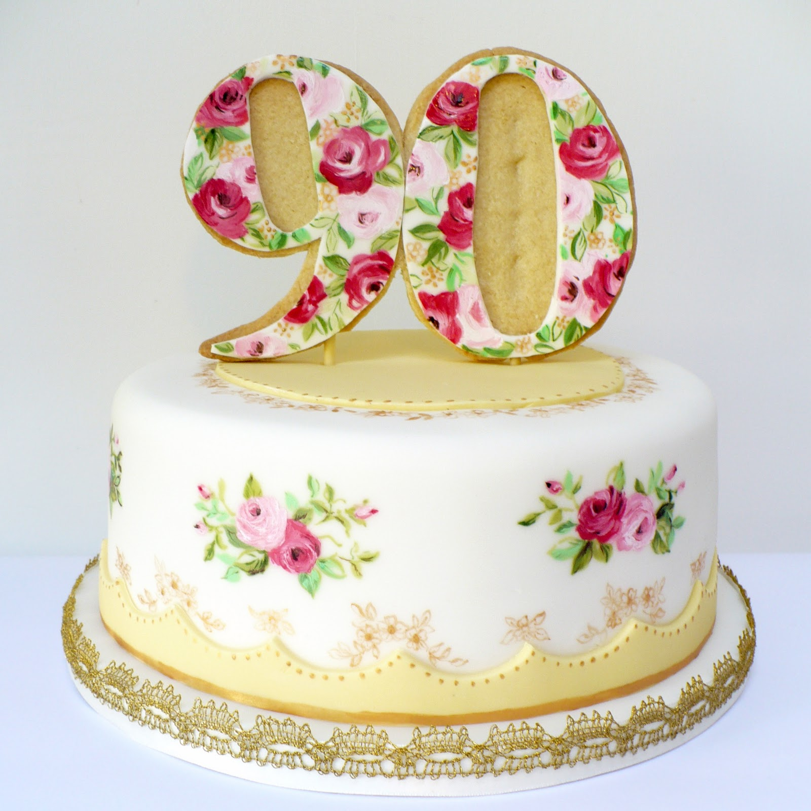 Birthday Cakes For 80 Year Old Woman Joanne Years Loved Gold Glitter Heart Cake Topper Amelies House HAPPY BLOG BIRTHDAY