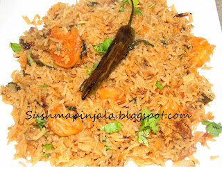 Spicy Shrimp Biryani