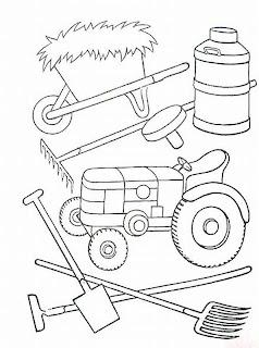 Huerto Natural Dibujos Para Colorear Tractor Y Otras