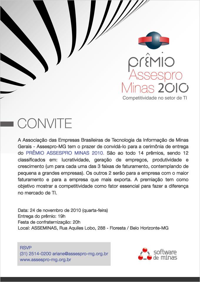 e45ec63afd1 Prêmio Assespro Minas 2010 - Competitividade no setor de TI