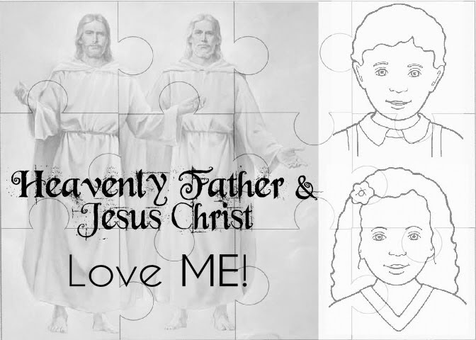 heavenly father and jesus love me coloring page - nurture mama fhe heavenly father and jesus christ love me