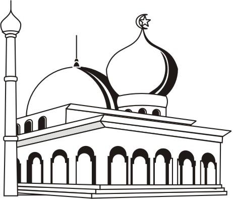 Contoh Gambar Kartun Masjid