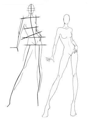 B sides fashion especial t cnicas de desenho de moda for Fashion sketchbook with templates