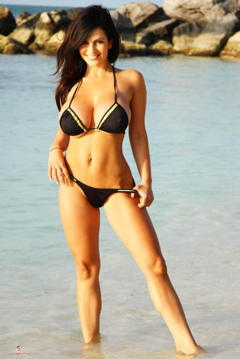 Denise Milani In Black Bikini 13