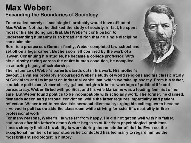 Max webers view on social science essay