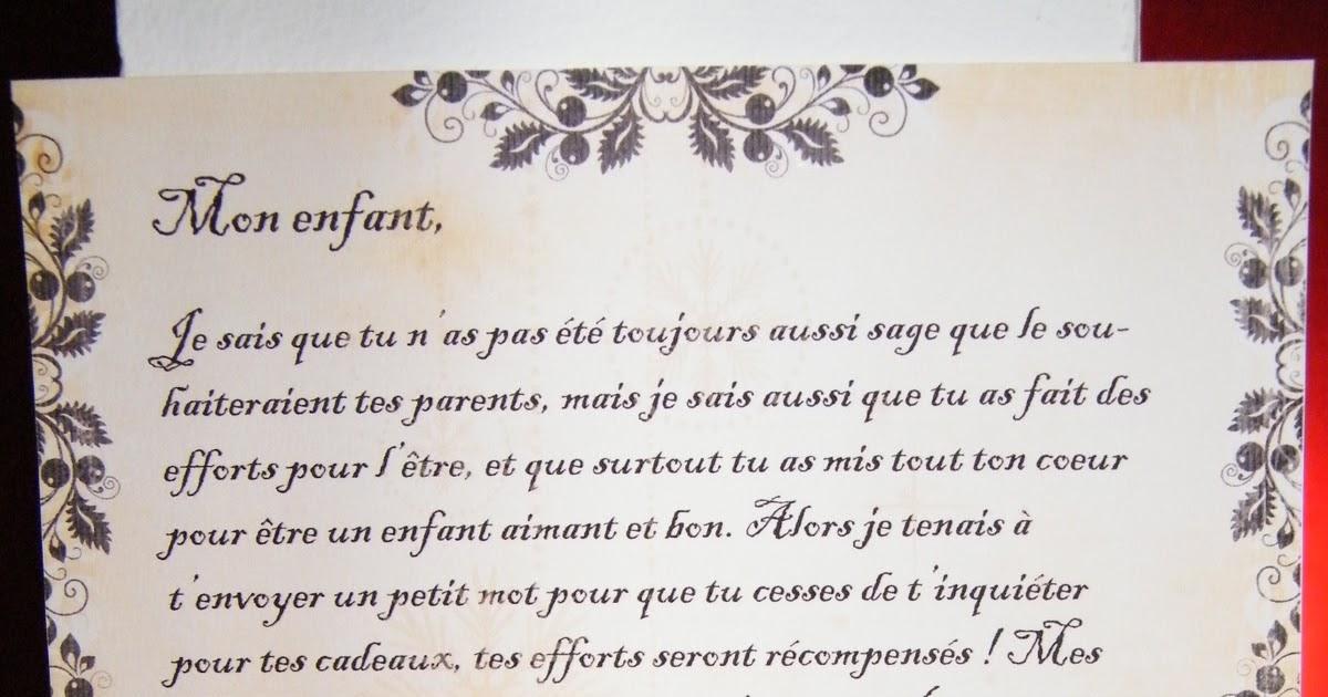 Lettre De Reponse Au Pere Noel.Assistante Maternelle Et Maman Lettre Du Pere Noel
