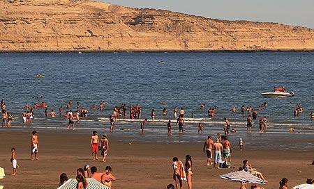 Playa Puerto Piramides Vacaciones en el mar