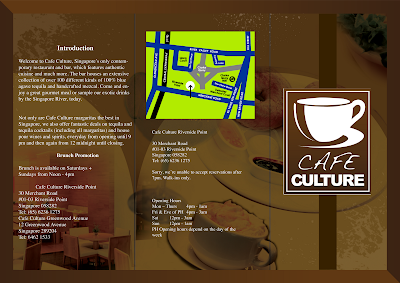 Cafe Brochure Design Sample   101greatbrochures of brochure design     Cafe Brochure Design Sample
