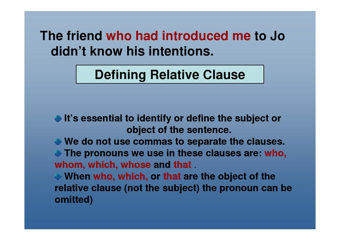 Tictactoe Relative Clauses