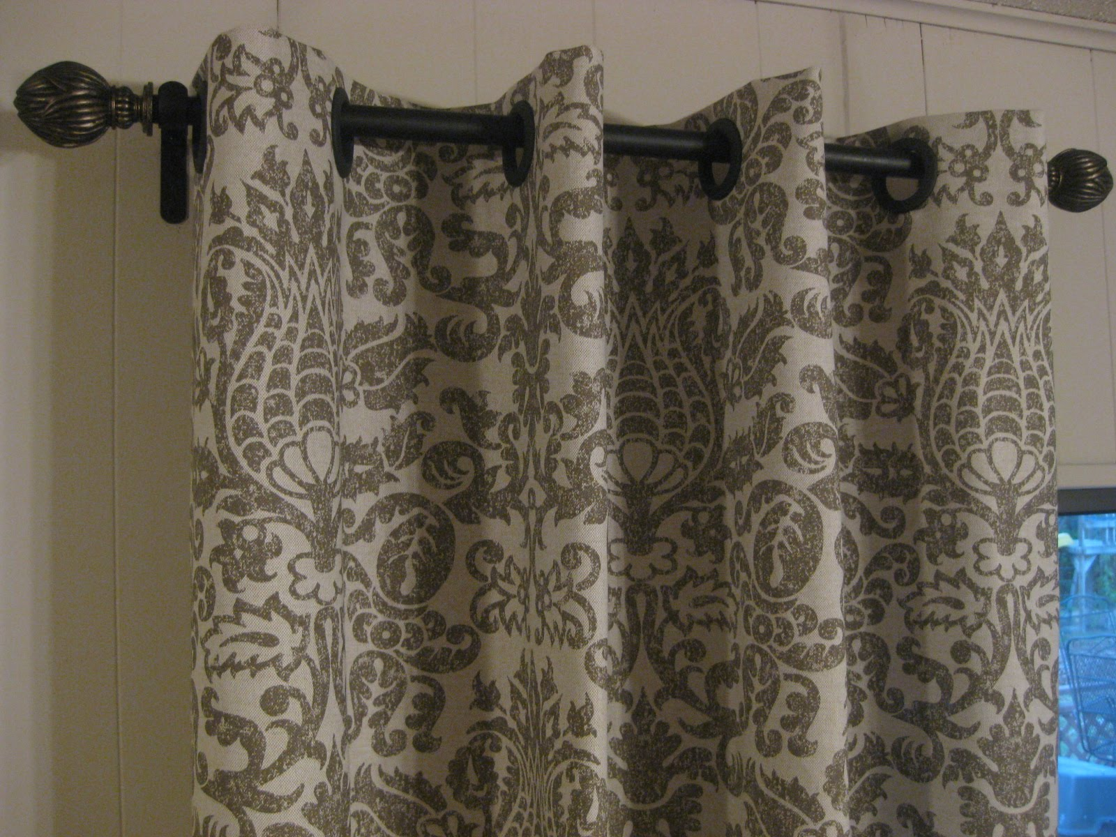 BEADED VALANCE TOP TREATMENT CURTAINS