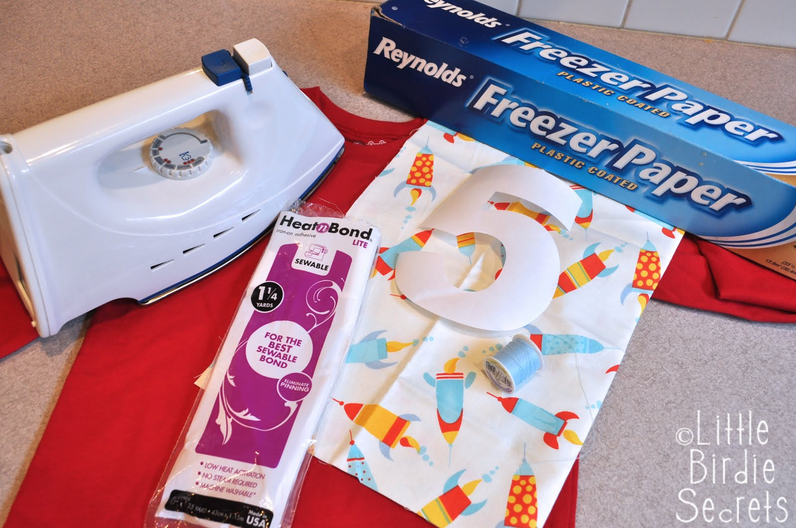 freezer paper applique template tutorial {why we love