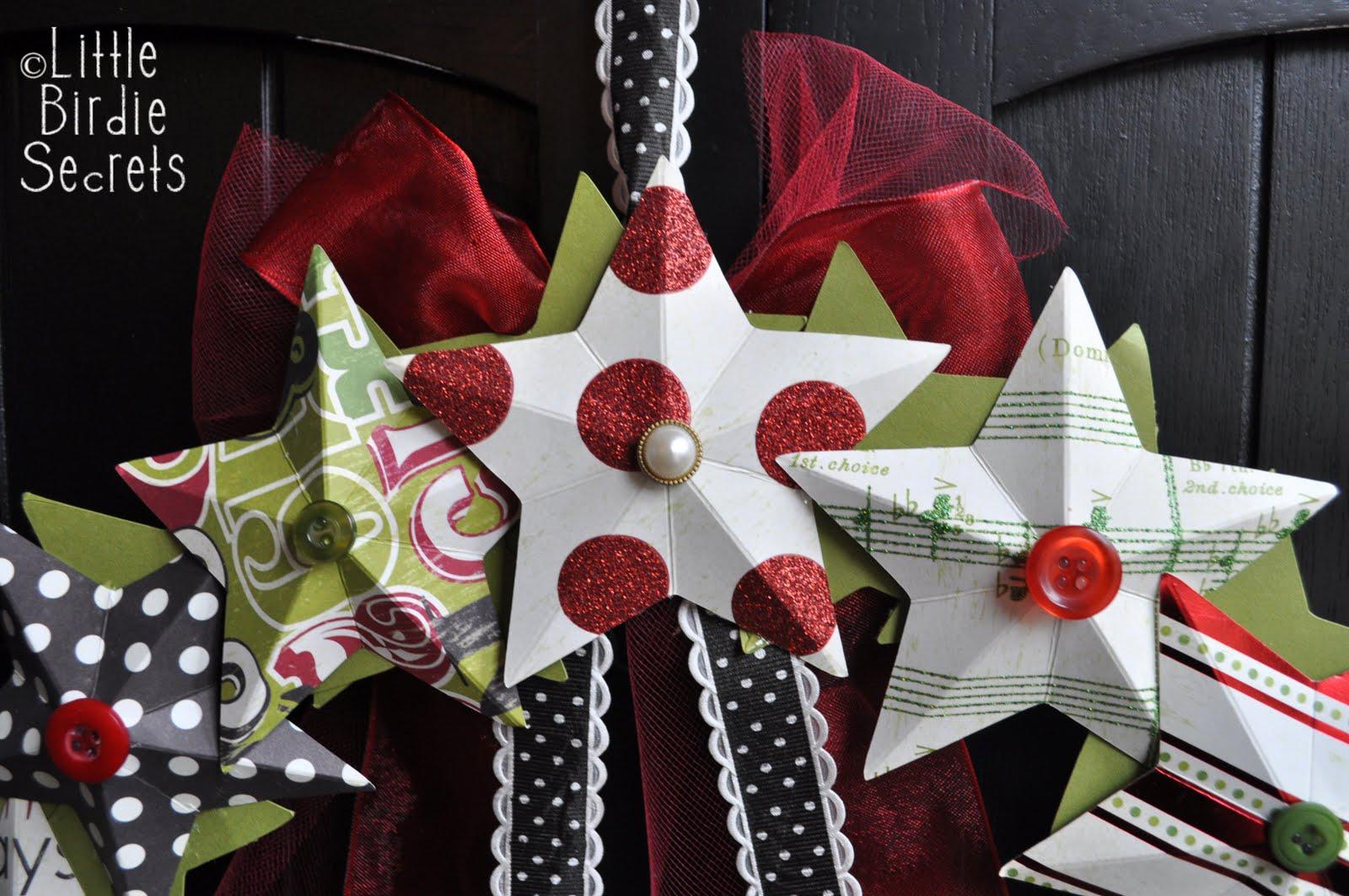 {last Minute Christmas Decorations} 3D Paper Star Wreath