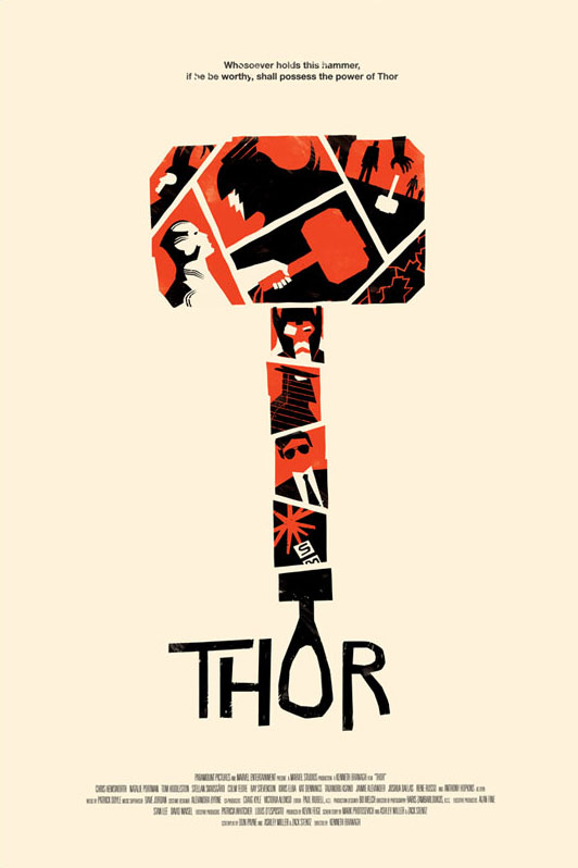 Poster de Thor obra de Olly Moss