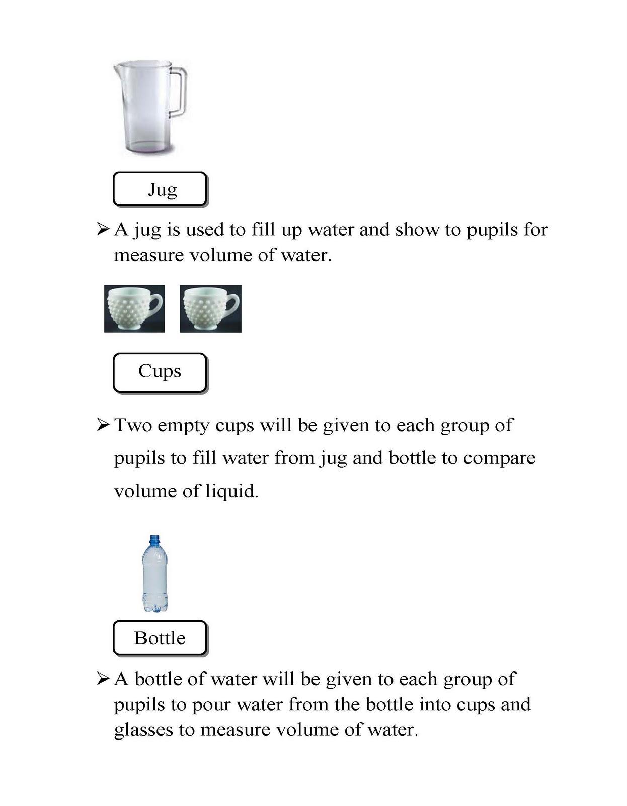 Volume Of Liquid Measurement Of Volume Of Liquid
