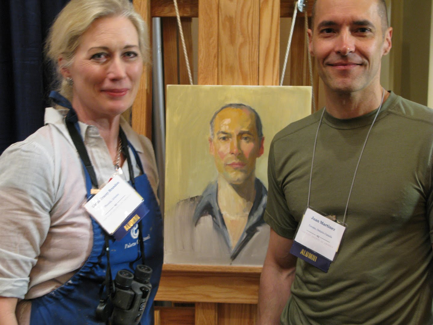 Linda Tracey Brandon's Blog: At the Jack Richeson Co  booth last
