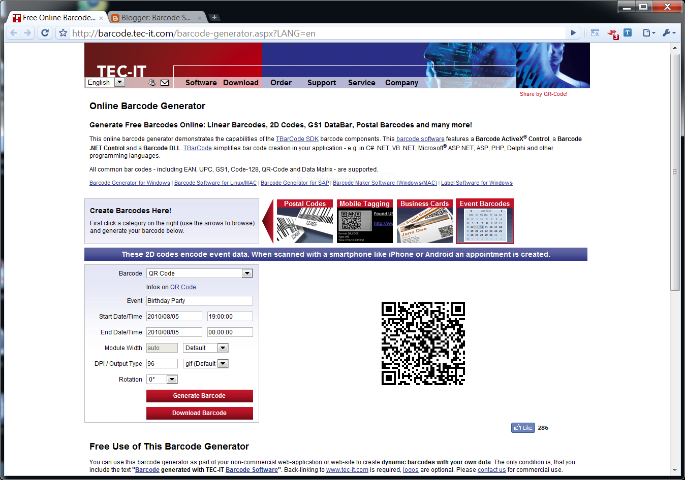 Identify Objects - with TEC-IT: Online Barcode Generator 2 0