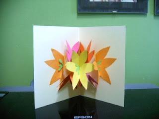 Seven flower pop up card mightylinksfo