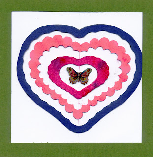 hearts and butterfly spinner card