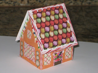 pop up card gingerbread house