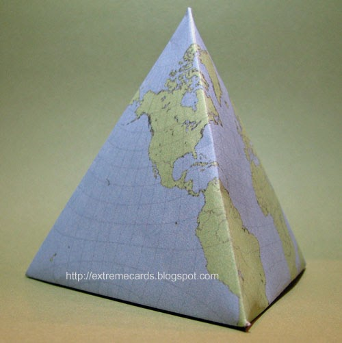 Extreme Cards And Papercrafting Pyramid Rubber Band Pop Up