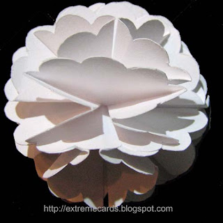 scallop circle flower