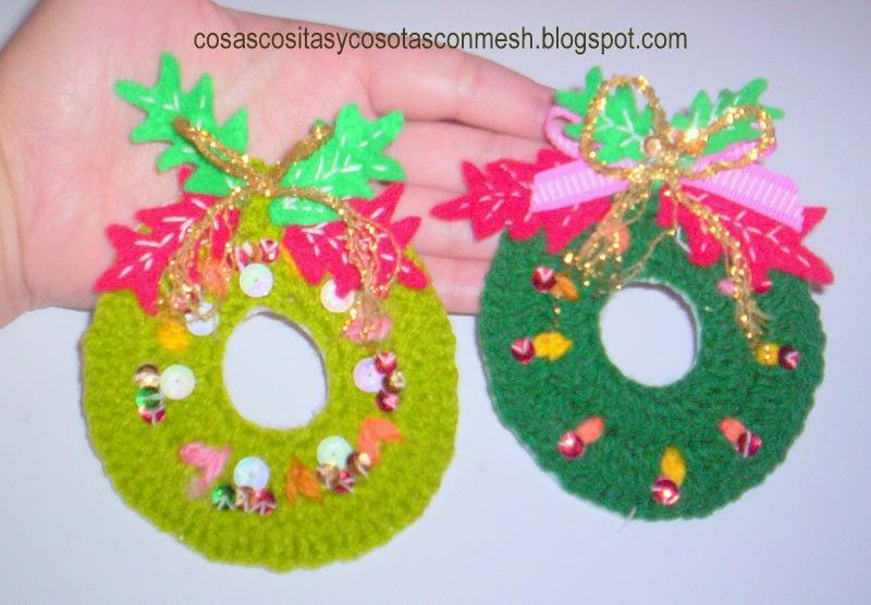 Tejidos navide os cositasconmesh for Adornos navidenos tejidos a crochet 2016