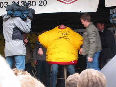 Jef Van Dijck, the man with the world record for the most t-shirt worn at once