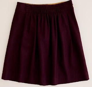 JCrew Shirred wool skirt from JCrew