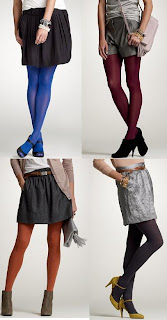 J.Crew bright colored tights @ Chasing Davies