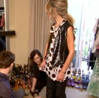 Rachel Zoe Polka dot blouse shirt and sequin vest
