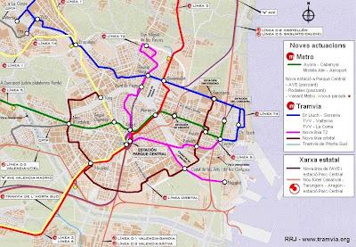 Mapa De Metro Valencia.Trotamundos Valencia