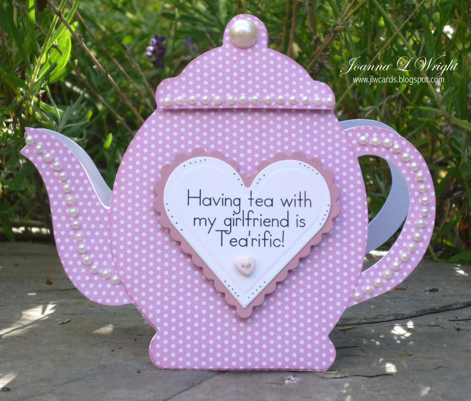 P I N K A L C O U S Teapot Shaped Card