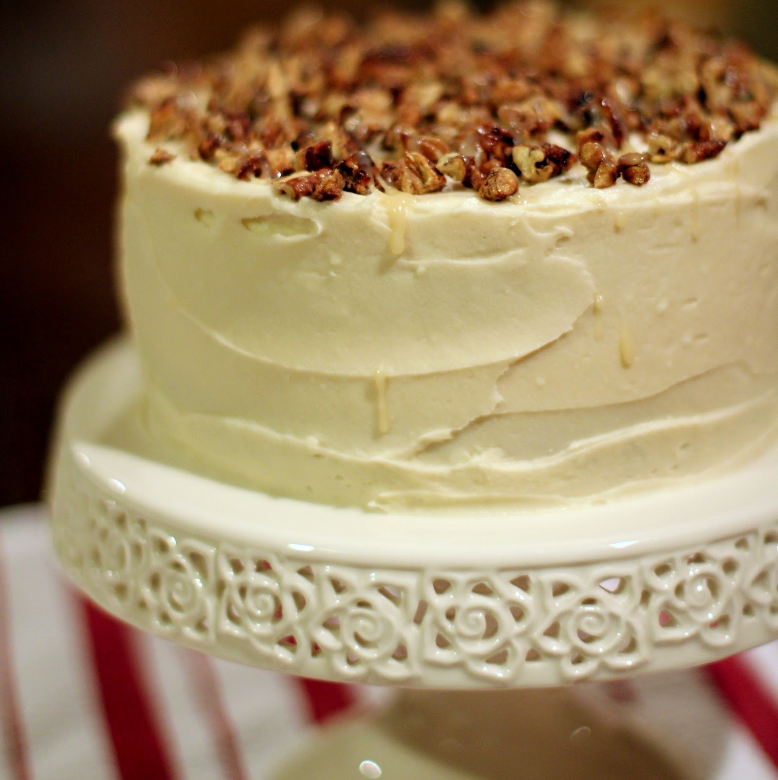 Shared Bites: French Vanilla Cake W/Caramel Frosting