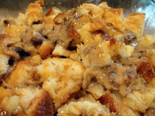 The Pursuit Of Happiness Banana Caramel Challah Bread Pudding