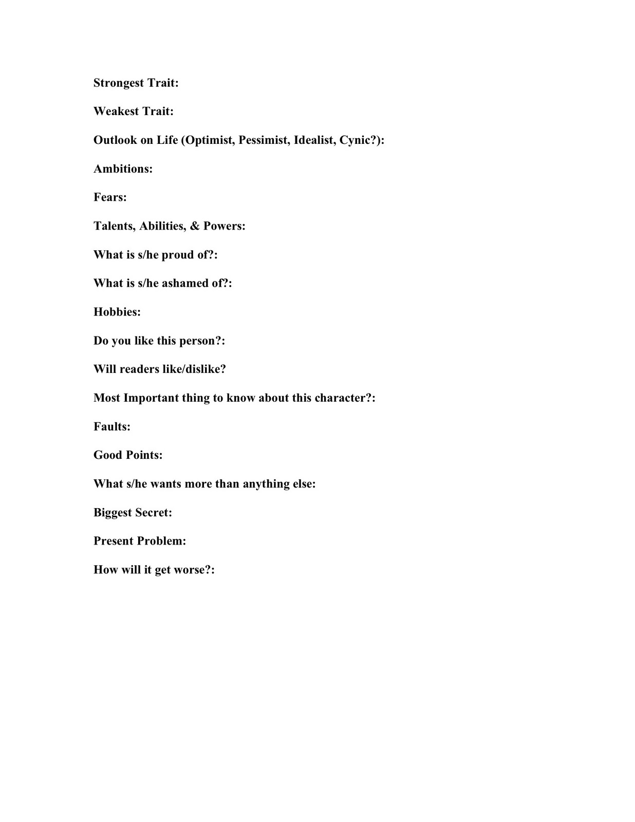 character profile template novel free character analysis 1000 – Character Profile Worksheet
