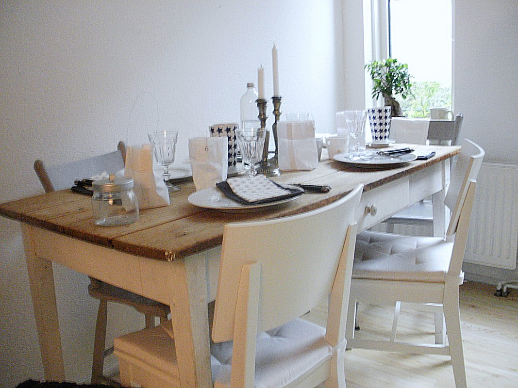 old tables and white chalk paint painted kitchen tables My own kitchen table