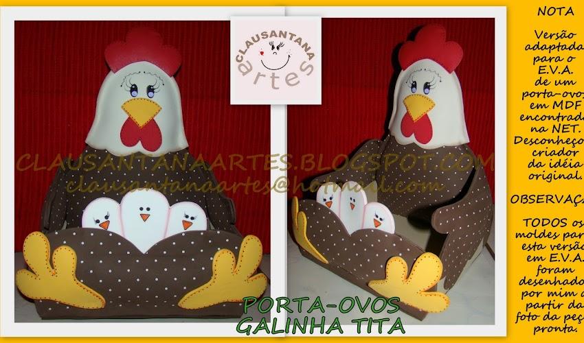 Galinha Porta Ovos com Moldes
