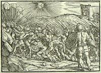 Josué arrêtant le soleil,      Rusconi, Giovanni Antonio (v. 1520-1587)