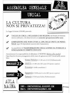 Unical Farmacia Calendario Accademico.Comitato Unical Ottobre 2008