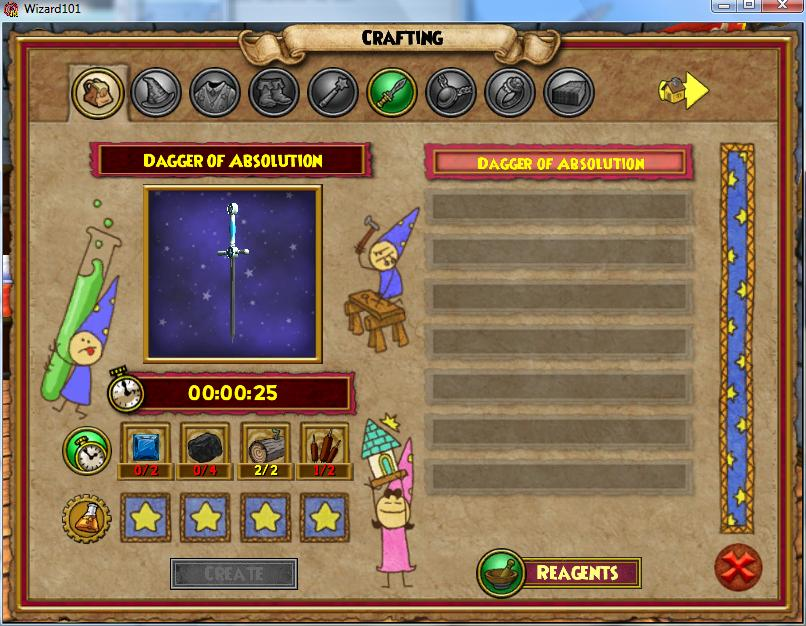 Wizard I Lost My Basic Crafting Table
