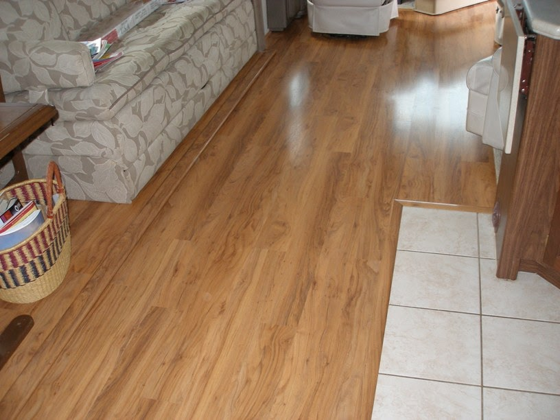 Remodeling Your RVs interior Installing laminate