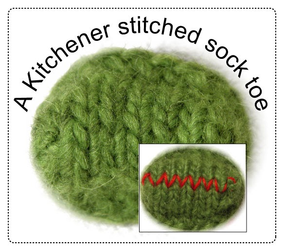 """An easier way to Kitchener Stitch (also called """"grafting seams"""" or """"weaving seams"""")"""
