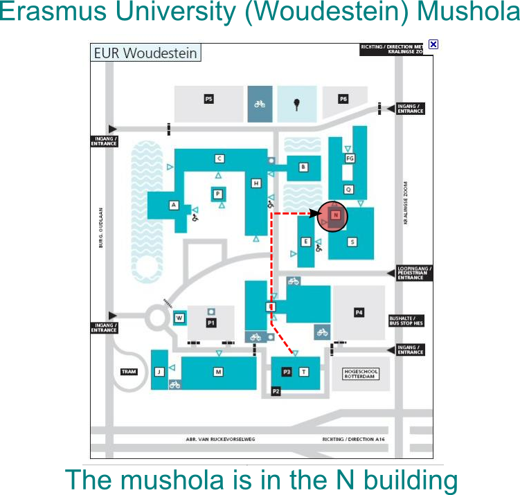 erasmus university campus map Meditya S Notes Erasmus University Woudestein Mushola erasmus university campus map