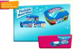 Flushable Moist Wipes from Pull-Ups