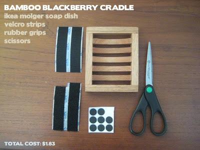 Bamboo Blackberry Cradle Ikea Hackers