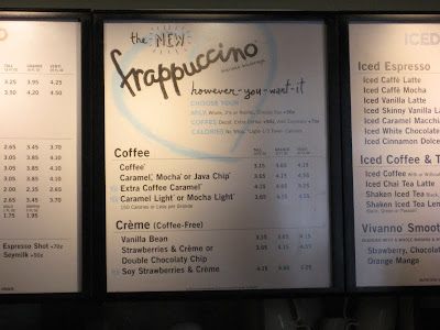 Starbucks' Customizable Frappuccino Menu